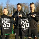 DJK Prinzbach übergibt Namenstrikot an das neue Trainerduo Benjamin Ziegler und Friedrich Martens