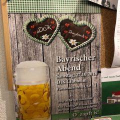 Bayerischer Abend im DJK Clubheim