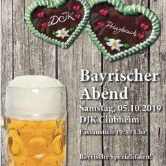50 Jahre DJK – Bayerischer Abend am Samstag, 05.09.2019
